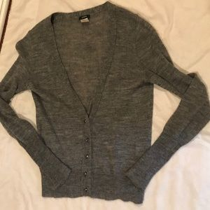 Grey cardigan with crystal buttons from Jcrew